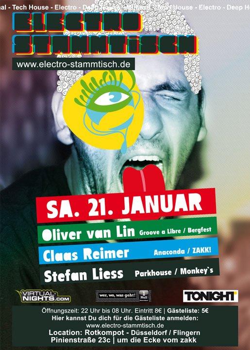 Flyer Electro Stammtisch, Rotkompott, Düsseldorf, 21.01.2011